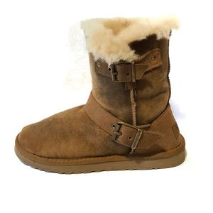 UGG Dylyn Distressed Short Shearling Boot